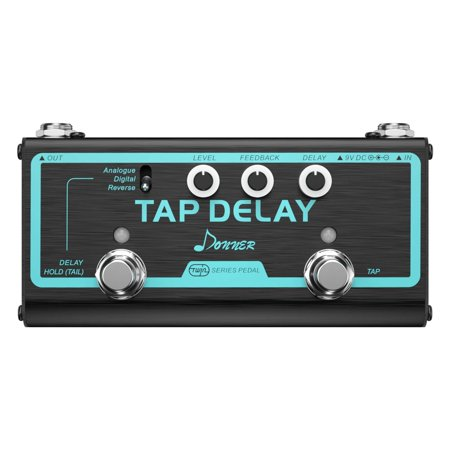 Great Quality Donner Tap Delay 3 Multi Guitar Effect Pedal Delay Modes Analogue, Digital,