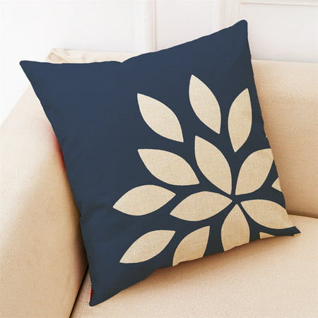 Home Decor Cushion Cover Dark Blue Style Throw Pillowcase Pillow Covers For Car ()