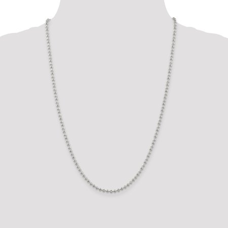 925 Sterling Silver 3mm Bead Chain Anklet - image 1 de 5
