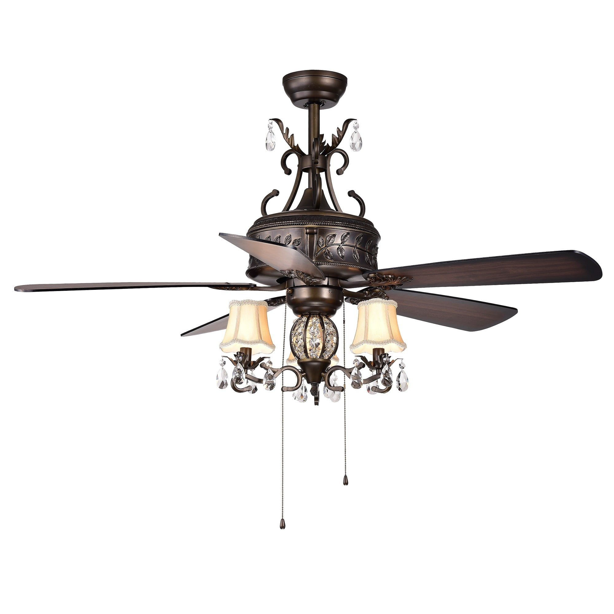 Firtha 5 Blade Antique Style 3 Light 52 Inch Ceiling Fan
