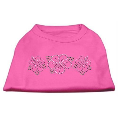 Tropical Flower Rhinestone Shirts Bright Pink XXL (18)
