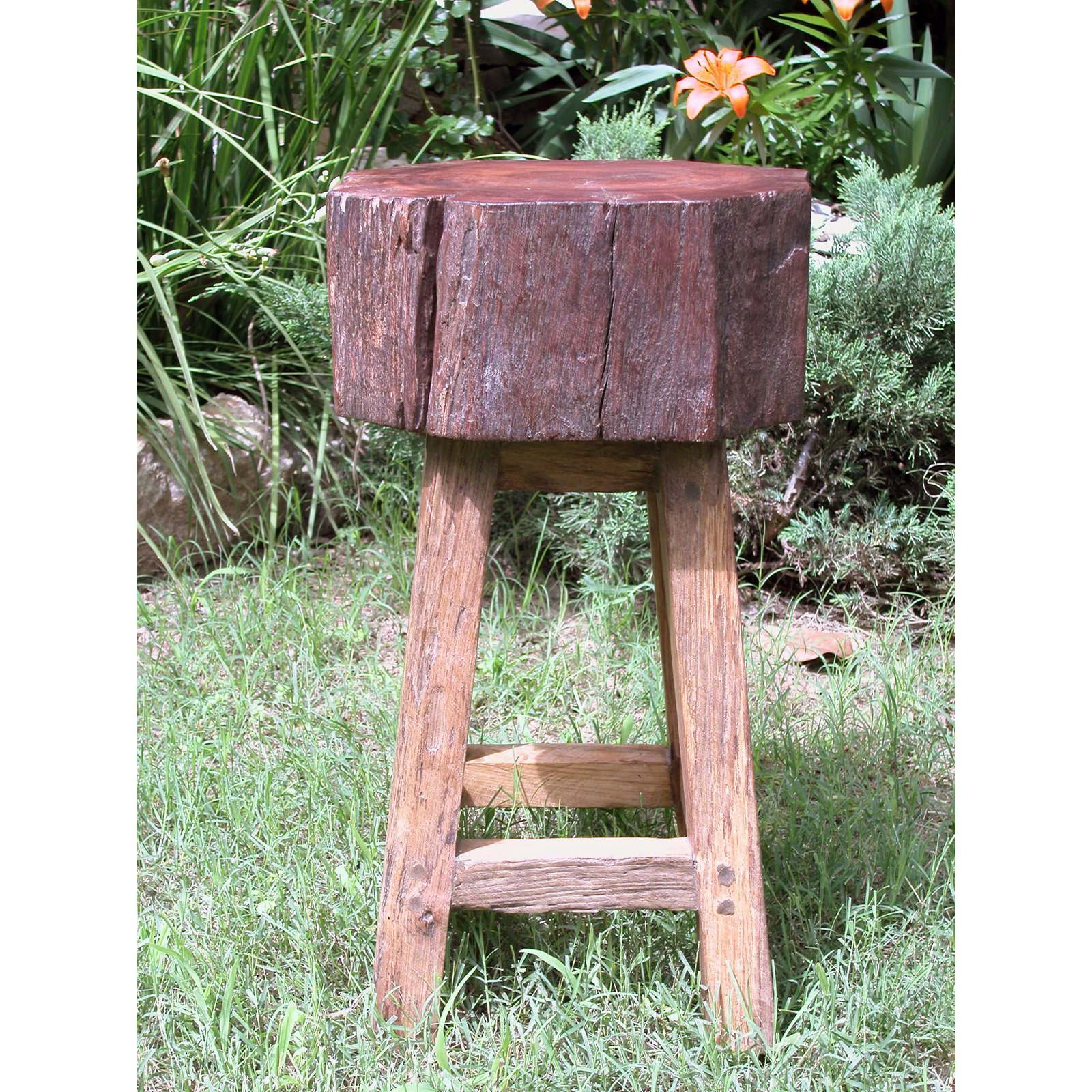 Groovystuff Stump Seat 24 in. Backless Counter Stool - Honey