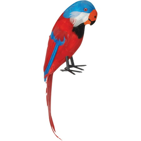 Loftus Pirate Shoulder Parrot with Feathers Costume Prop, Red Multi, One