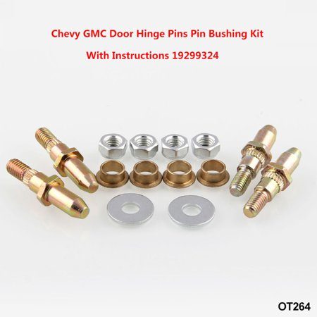 Chevy GMC Fullsize Truck SUV Door Hinge Pins Pin Bushing Kit Car Modification