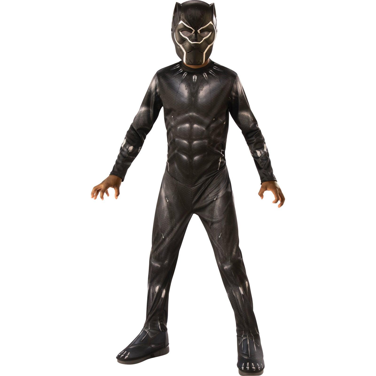 Black Panther Boys Costume Kids Marvel DC comics Justice League Fancy Dress