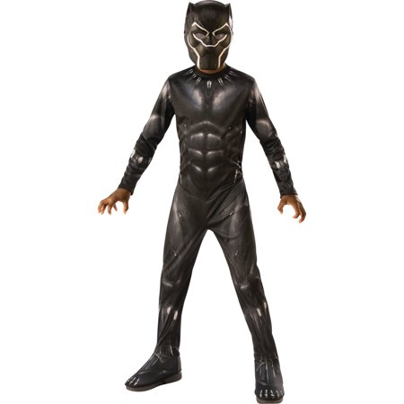 Marvel Black Panther Child Deluxe Boys Halloween Costume (Best Ideas Halloween Costumes)