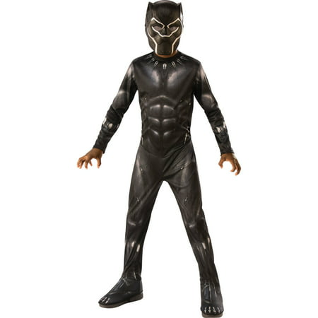 Marvel Black Panther Child Deluxe Boys Halloween Costume (Duo Halloween Costumes 2017)