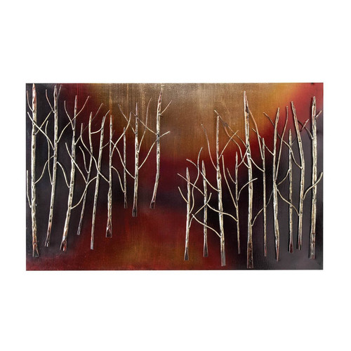 EC World Imports Urban Hand Crafted Abstract Trees 38'' Metal Art Wall Decor