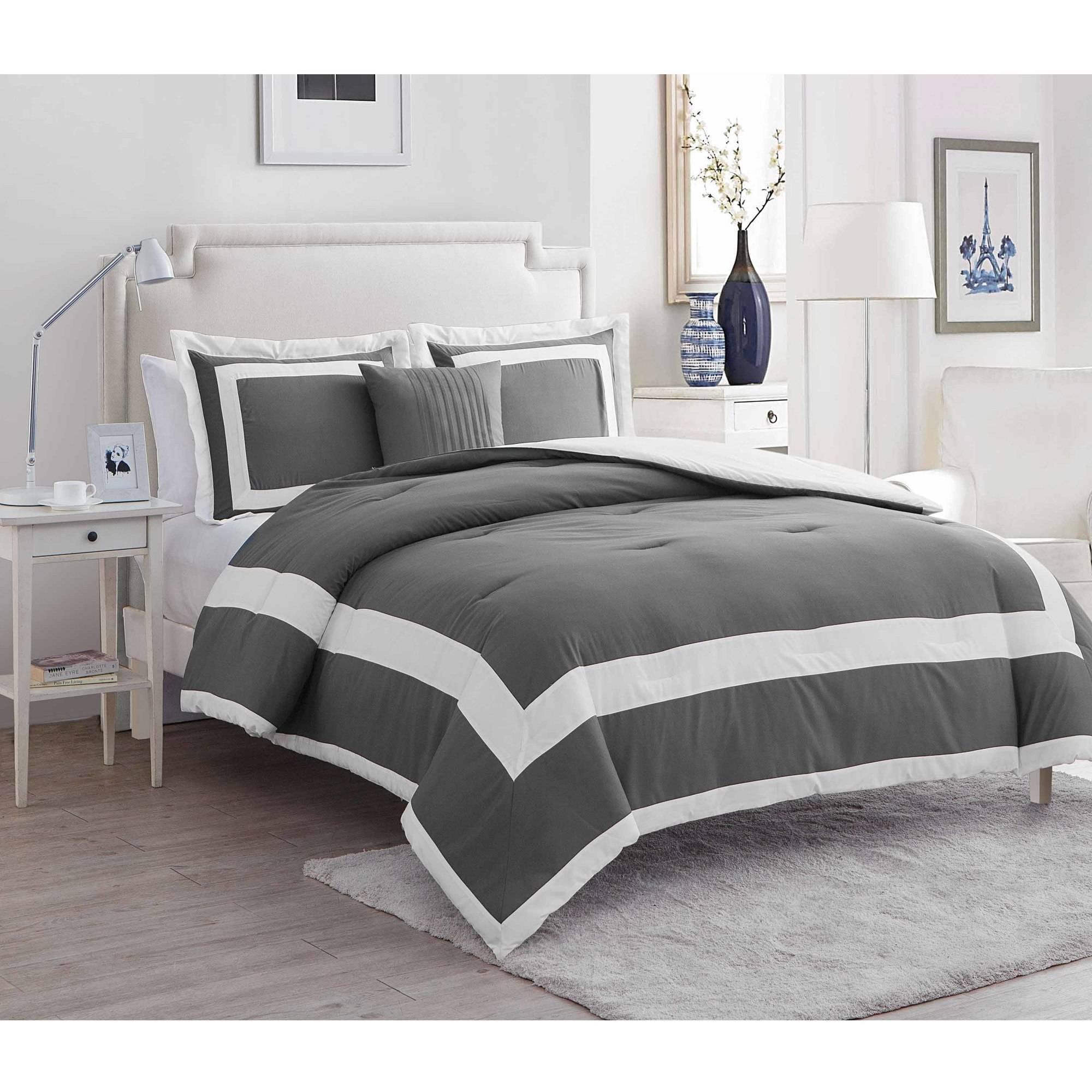 VCNY Home Avianna Hotel 4-Piece Bedding Comforter Set by Victoria Classics
