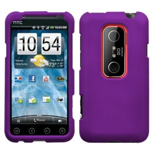 Insten Grape Phone Case (Rubberized) for HTC: EVO 3D, EVO V 4G