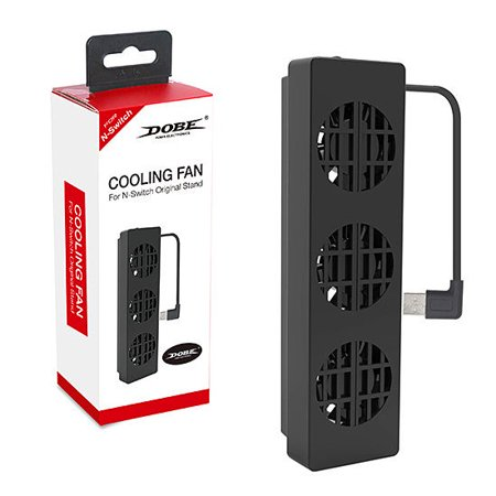 DOBE Nintendo Switch Dock Set Cooling Fan , Cooling stand, Cooler with 3 Fans - Notebook 3 Fan Cooler