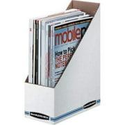 5PC Bankers Box Stor/File Magazine Files - Letter Blue, White - Fiberboard - 1 Each