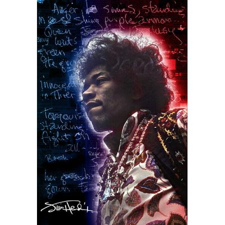Jimi Hendrix   Electric Legend Poster Print  24 X 36