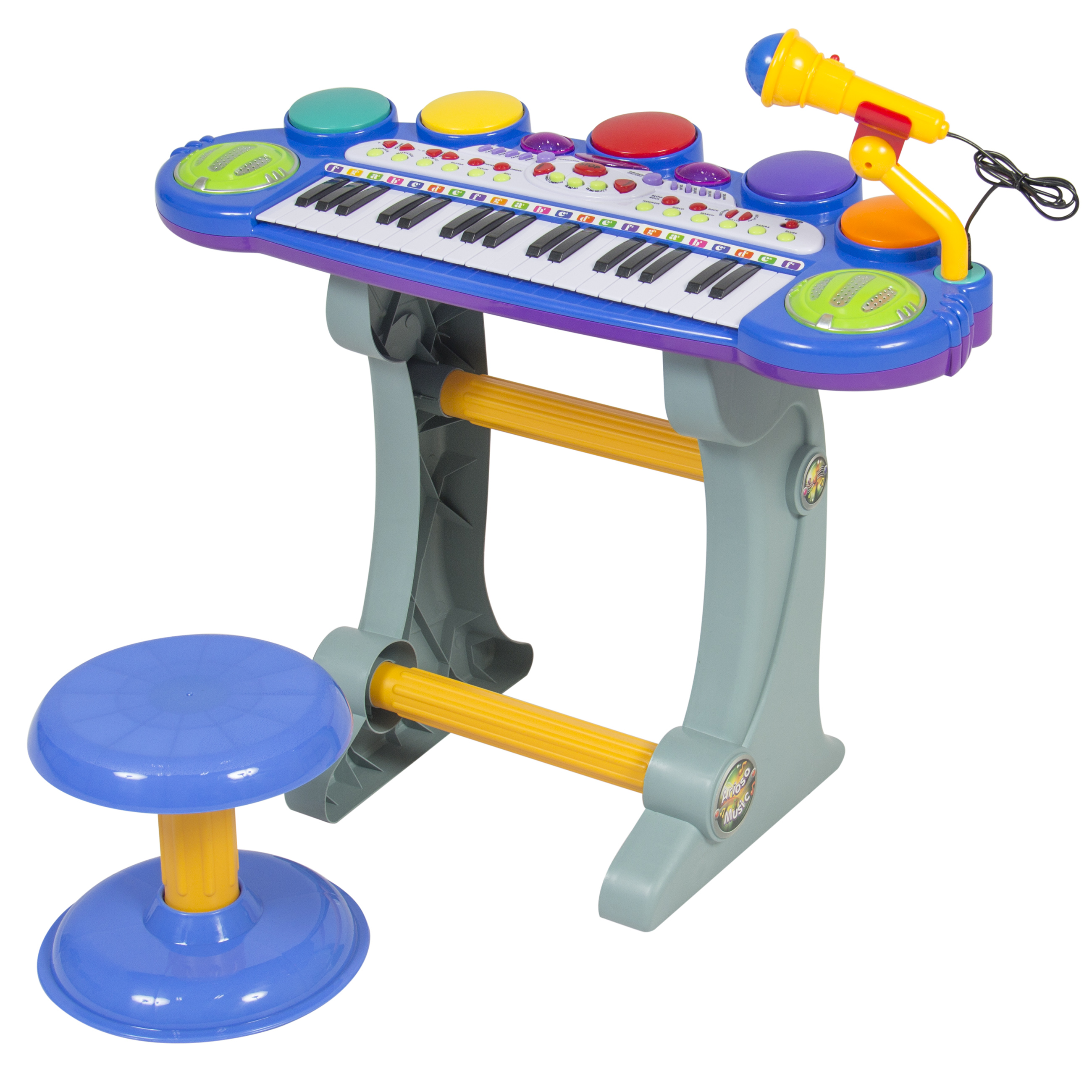Best Choice Products 37-Key Kids Electronic Piano Keyboard w/ Record and Playback, Microphone, Synthesizer, Stool - Pink