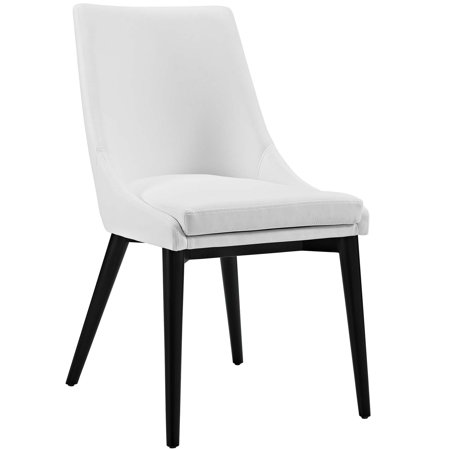 - Modern Contemporary Urban Design Kitchen Room Dining Chair, White, Faux Leather