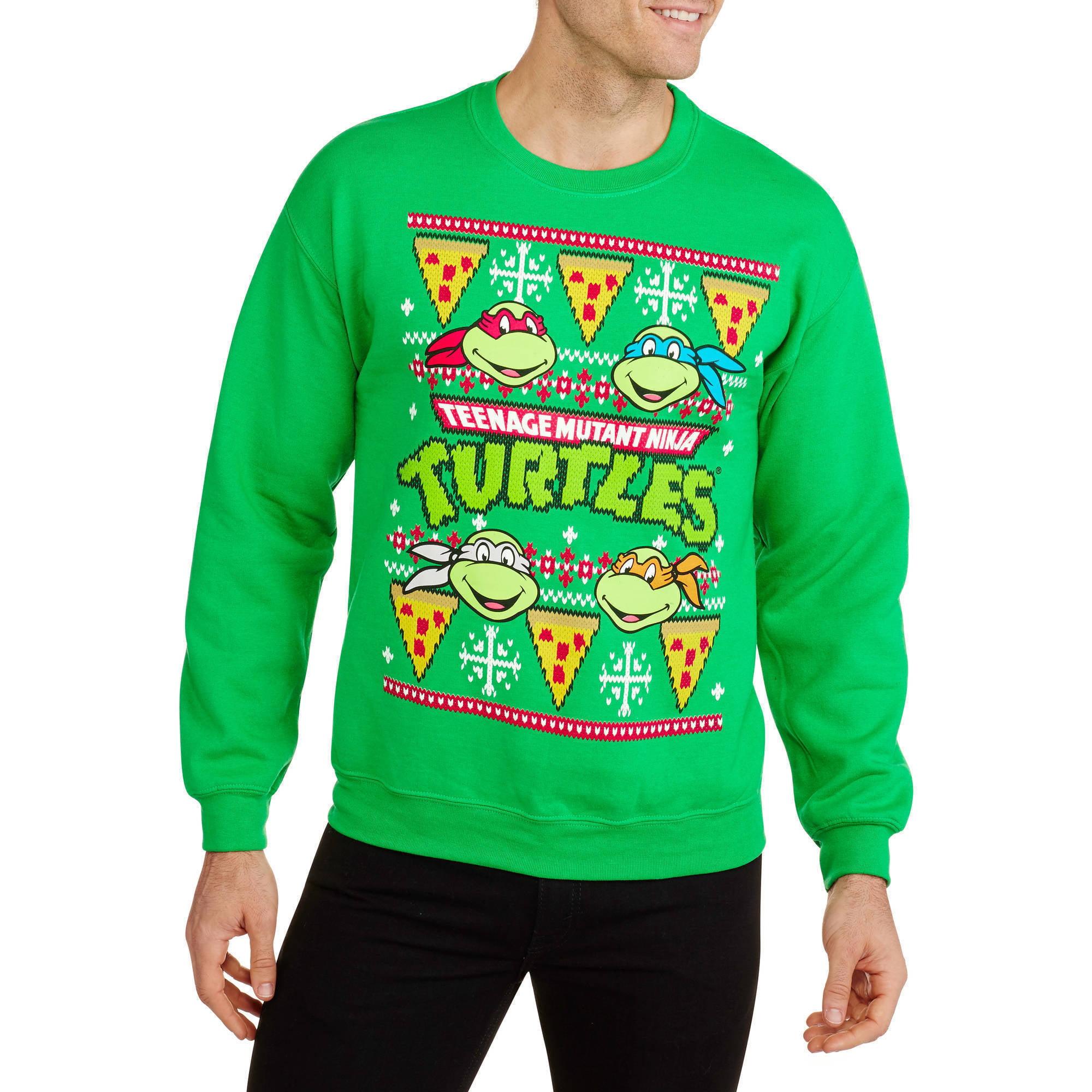 Teenage Mutant Ninja Turtles - Pizza Ugly Christmas Men\'s Graphic ...