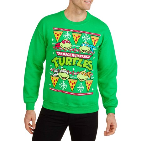 pizza ugly christmas mens graphic crew neck sweatshirt