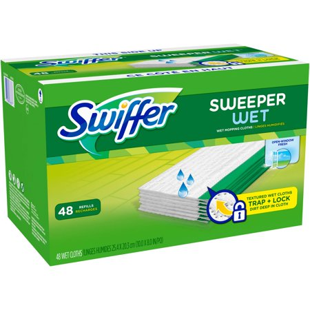 Swiffer Sweeper Wet Mopping Pad Refills Fresh Scent 48