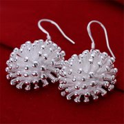 Rubique 18K White Silver Sea Coral Earring