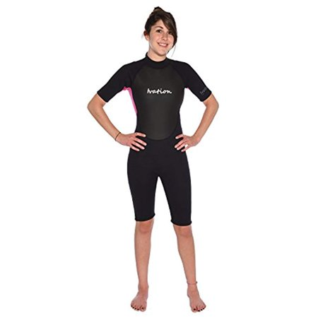 Ivation 3mm Short Wetsuit for Adult - Crafted of Premium Neoprene & Features High - Quality Zipper & Full UV Protection,Pink,Large - image 1 of 8