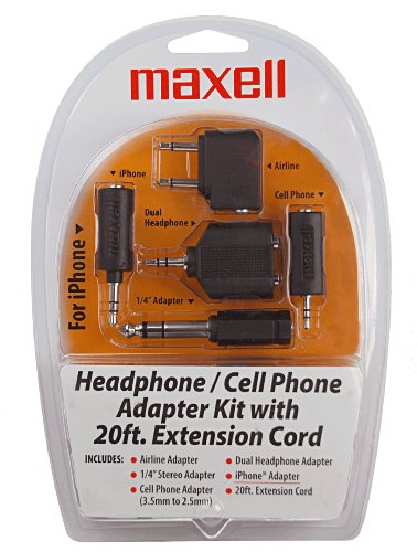 Maxell Hp21 Headphone and Cell Adapter Kit (190398) by Maxell