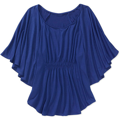 Faded Glory Women's Plus-Size Flutter Circle Top