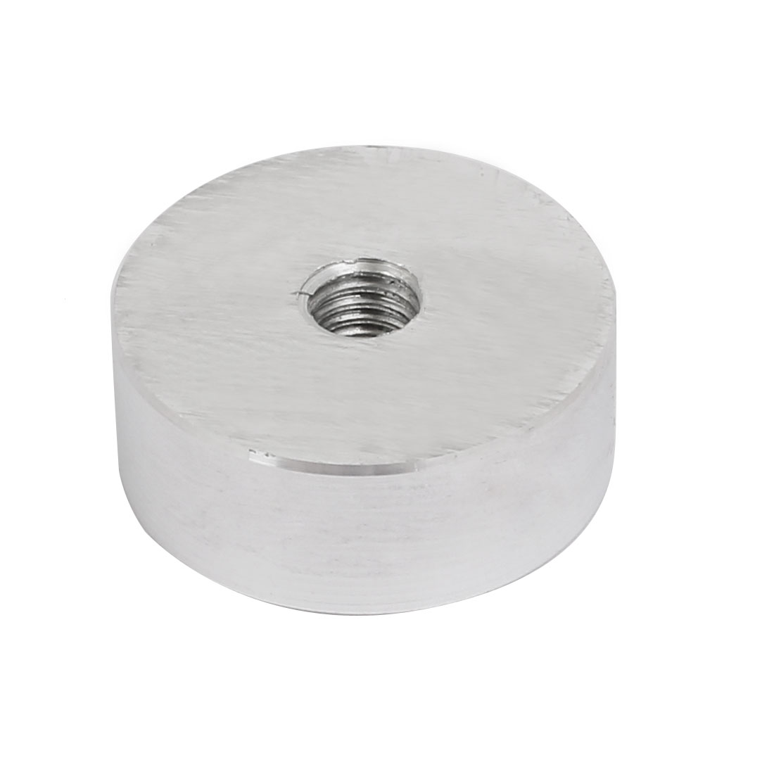 Unique Bargains 4pcs 25mm Dia 10mm Thickness M6 Thread Aluminum Disc Hardware for Glass Table - image 2 of 3
