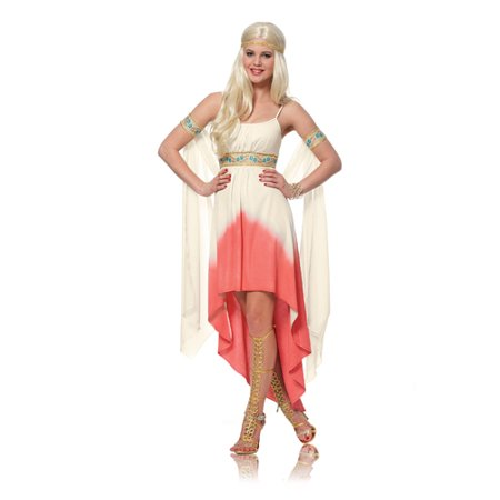 Womens Coral Goddess Greek Halloween Costume