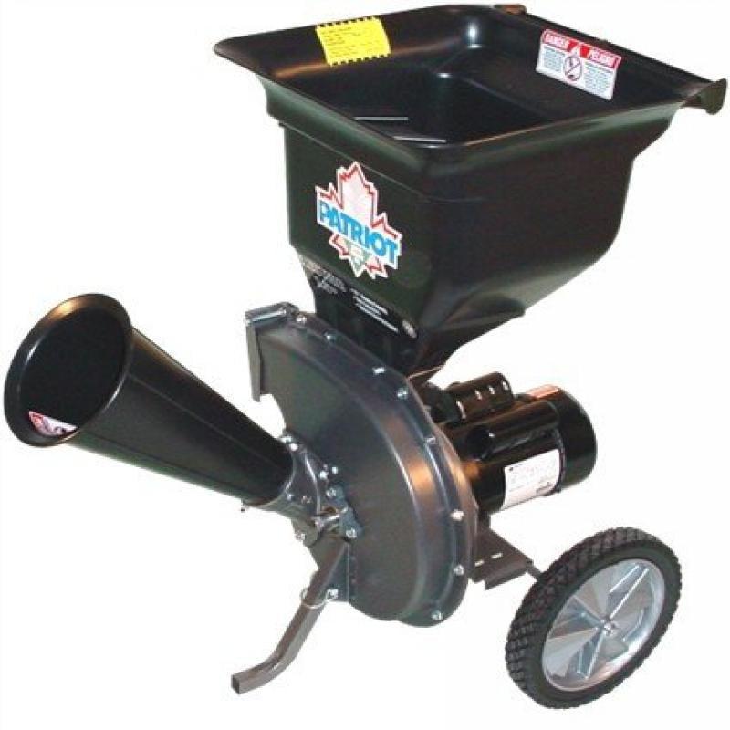 Patriot CSV-2515 1. 5 hp Electric Wood Chipper Leaf Shredder