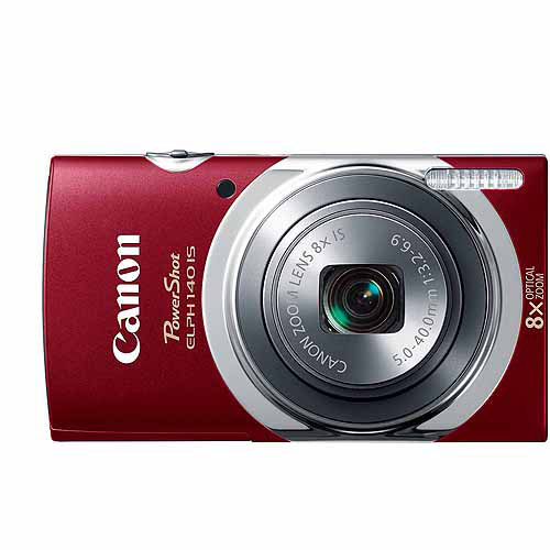 Canon Red PowerShot ELPH 140 IS Digital Camera with 16 Megapixels and 8x Optical Zoom