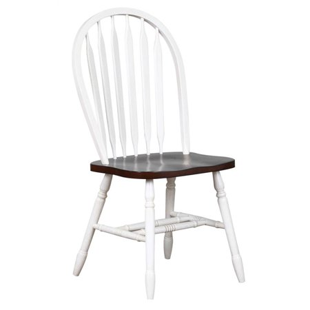 Dining Chair in Distressed Antique White Finish - Set of 2 - Dining Chair In Distressed Antique White Finish - Set Of 2 - Walmart.com