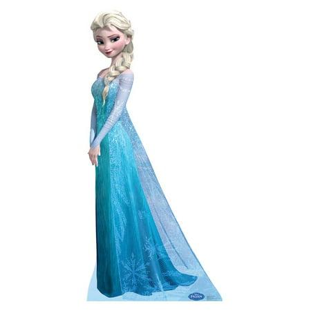 Snow Queen Elsa (Disney's Frozen) Cardboard Stand-Up, 5ft Disney Belle Cardboard