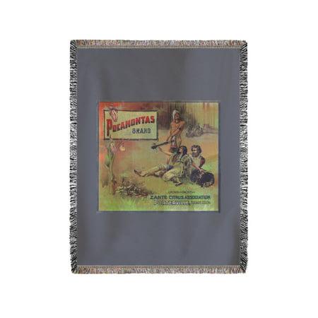 Pocahontas Orange Label (60x80 Woven Chenille Yarn Blanket)