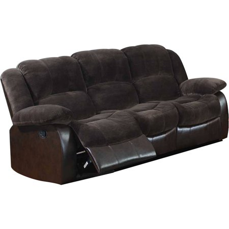 - Leonel Signature Aiden Champion & PU Motion Sofa (2 reclining seats)