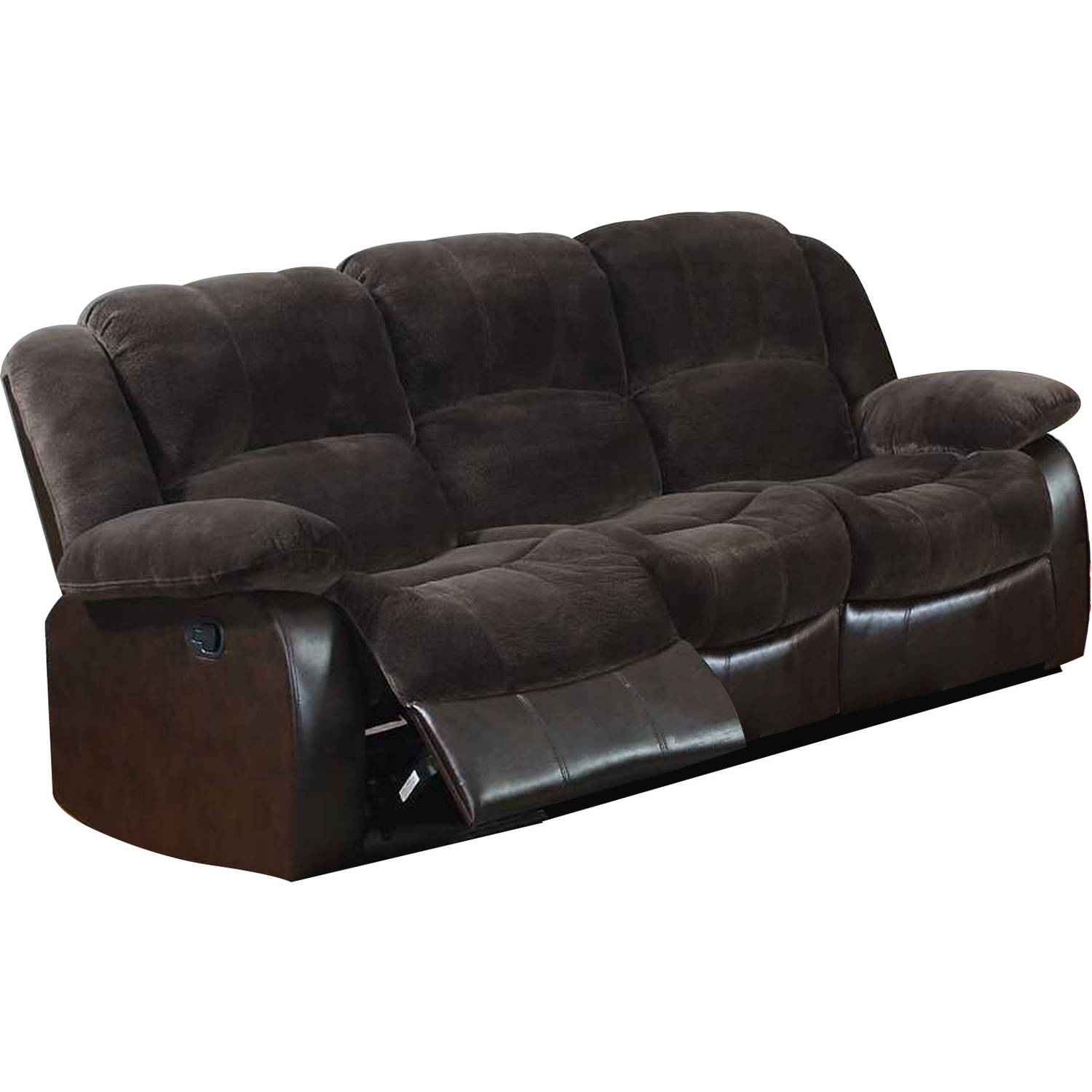 Leonel Signature Aiden Champion & PU Motion Sofa (2 reclining seats)