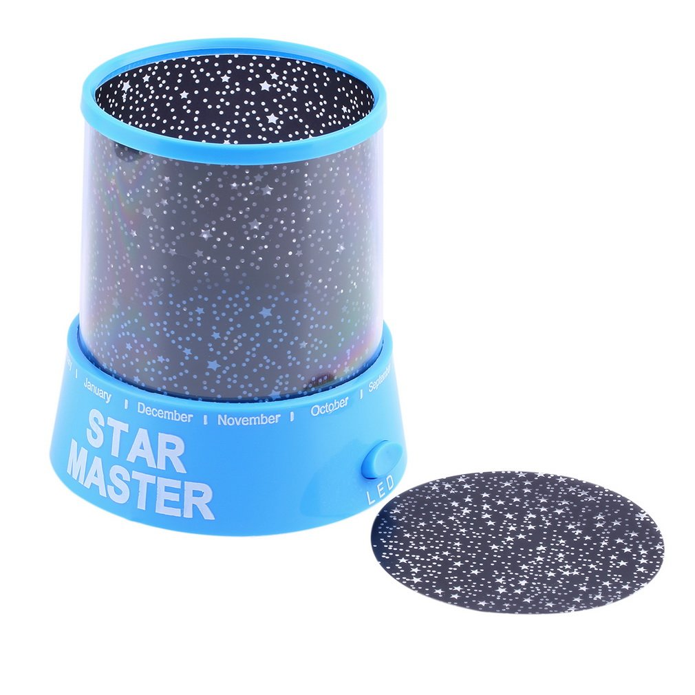 New Arrival Night Light Romatic Cosmos Moon Star Master Projector Led Starry Night Sky Light Lamp Baby