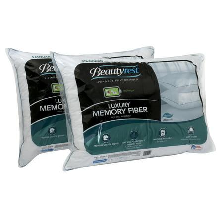 beautyrest pillow. Beautyrest Luxury Memory Fiber Pillow 233TC Set Of 2, Multiple Sizes