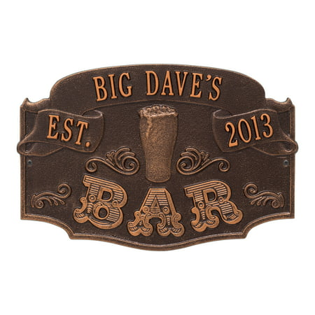Personalized Whitehall Product Established Bar Plaque in Antique - Established Date Plaque