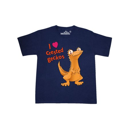 I Love Crested Geckos Youth T-Shirt