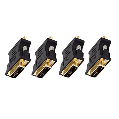 C&E 4 Pack, DVI-A Dual Link Male to HD15(VGA) Female Adapter Gold