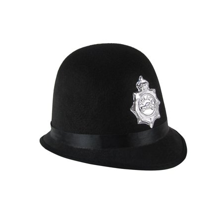 British Bobby Police Officer Hat UK Policeman Costume Accessory