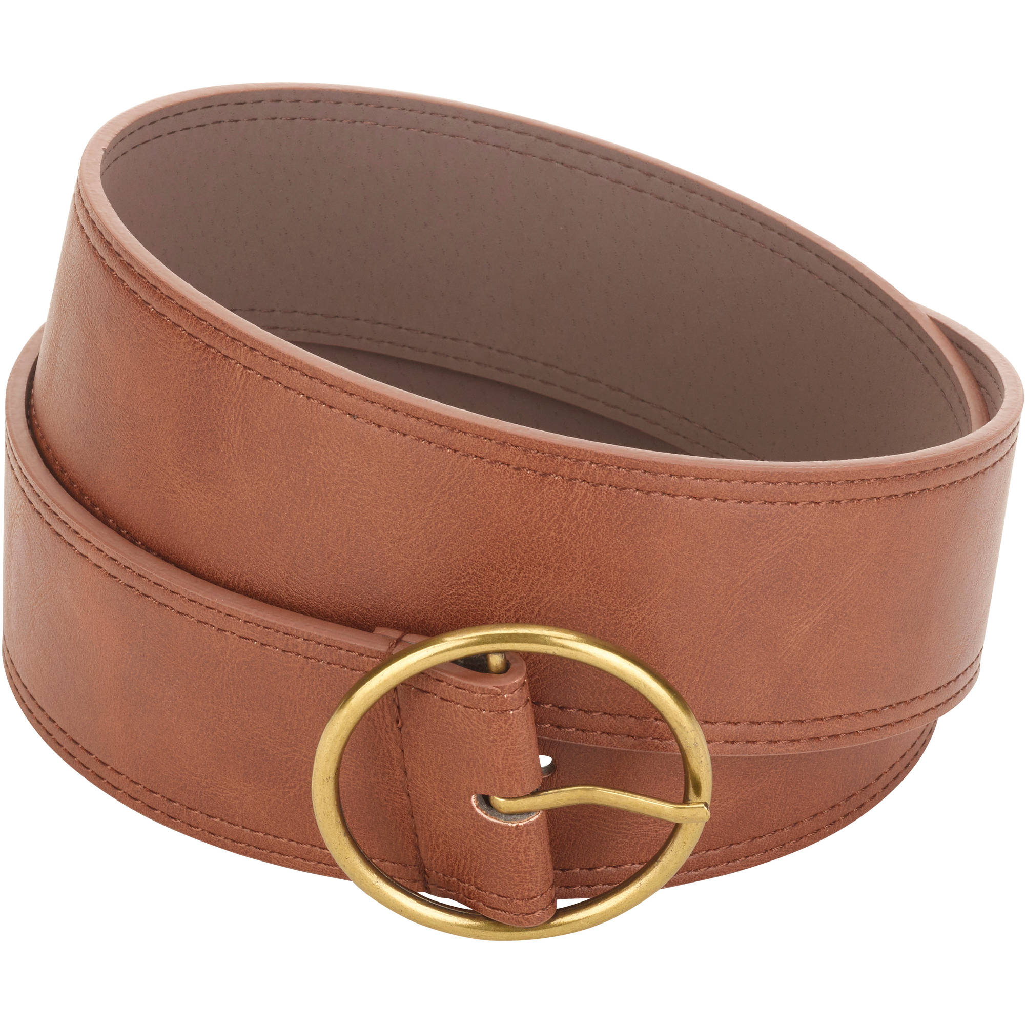 Faded Glory Women's Wide Round Center bar  Belt