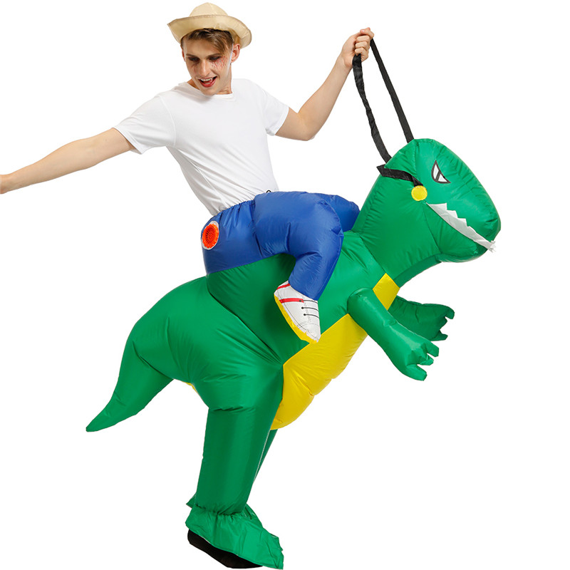 Fun Animal  Inflatable Dinosaur Costume Adult Cosplay Party Dress Green