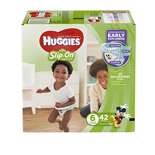 Huggies Little Movers Slip-On Diaper Pants (Choose Diaper Size and Count) by HUGGIES