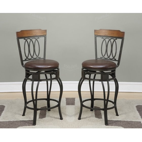 29 inch Seat H Counter Bar Chairs Kitchen Patio Metal with