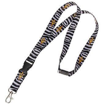 NCAA ASU Sun Devils Zebra Print Breakaway Lanyard Key - Print Lanyards