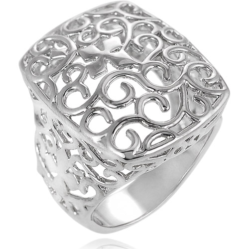 Brinley Co. Sterling Silver Filigree Ring
