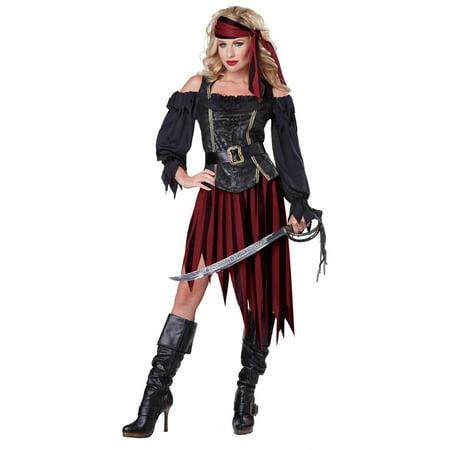Rodeo Queen Costume (Womens Queen Of The High Seas Buccaneer)
