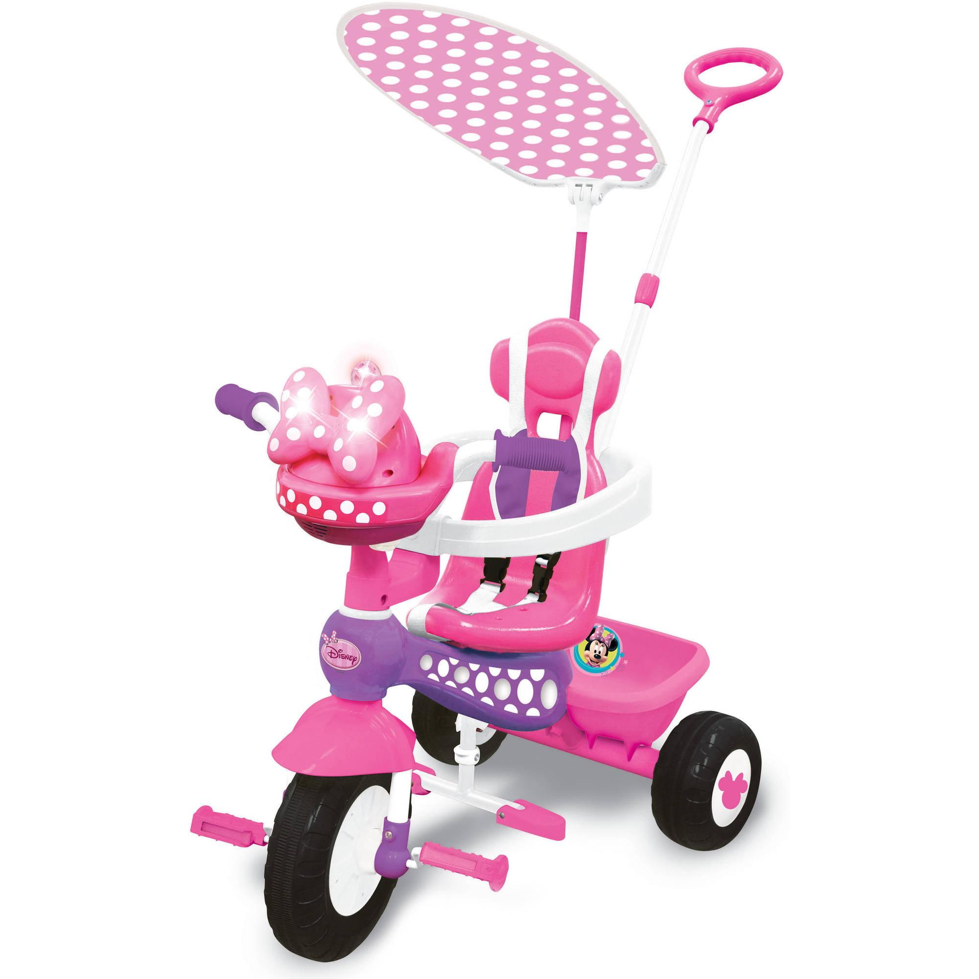 Kiddieland Disney Minnie Mouse Push N' Ride Trike by Kiddieland