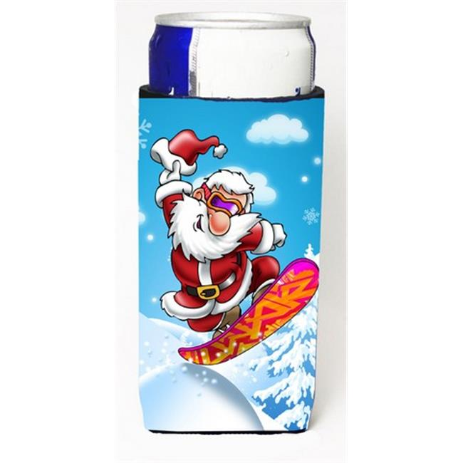 Christmas Santa Claus Snowboarding Michelob Ultra Can coolers for Slim Cans - image 1 de 1
